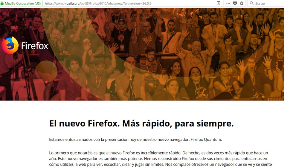 El nuevo Firefox Quantum, renovado y más rápido