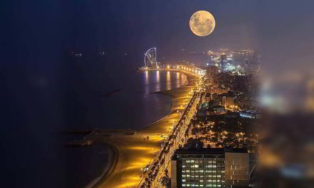 Una superluna, una luna azul, una luna de sangre y un eclipse lunar